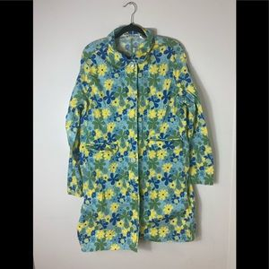 Orvis Floral Trench Style Jacket Size XL